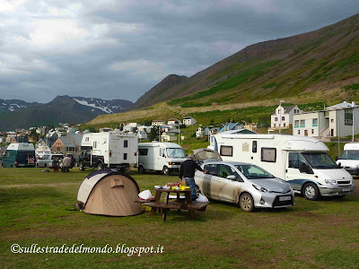 camping a Siglufjardur