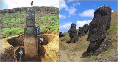 Mystery of Easter Island the Big Statues of Stone