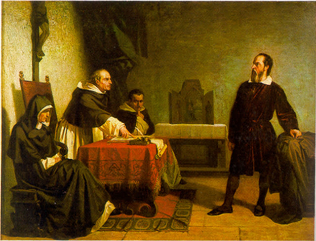 Galileo facing the Roman Inquisition by Cristiano Banti (1857)