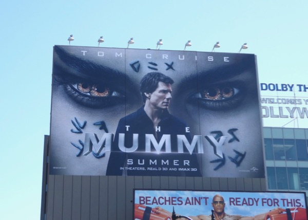 Tom Cruise Mummy movie billboard