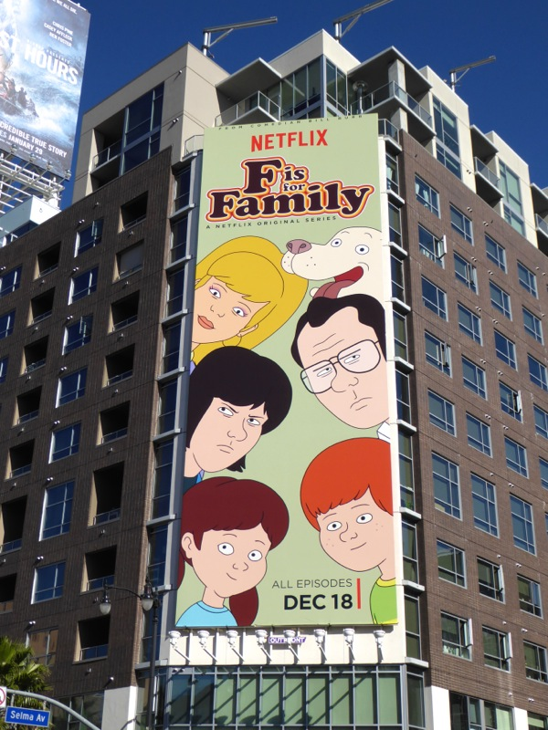 F is for Family series premiere billboard