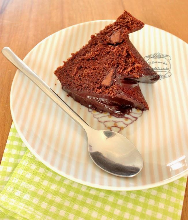 bundt cake chocolat noir et caramel
