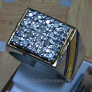 Cincin Berlian Natural Diamond - ZP 1036