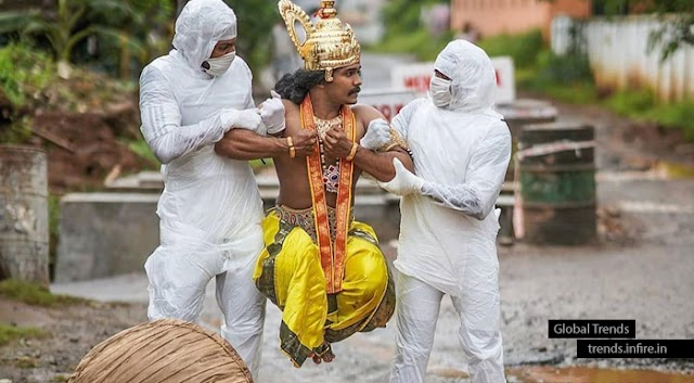 Where is your Mask..!!! Health workers took away Maveli for not wearing MASK; Kerala Onam 2020 Viral Photoshoot