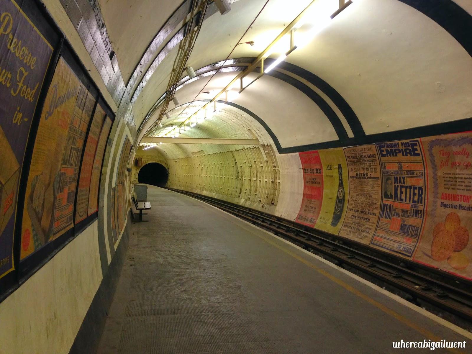 Aldwych Tube Station Platform