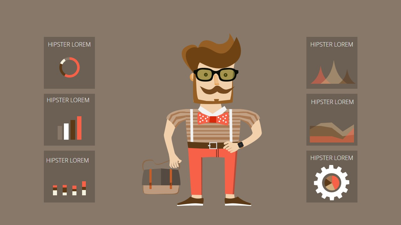Free powerpoint template with infographic hipster design elements hipster style toneelgroepblik Images