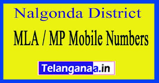 Nalgonda District MLA / MP Mobile Numbers List Telangana State