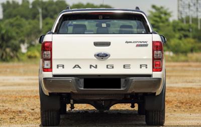 Eksterior Belakang Ford Ranger T6 Facelift