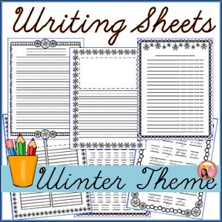 Winter Writing template