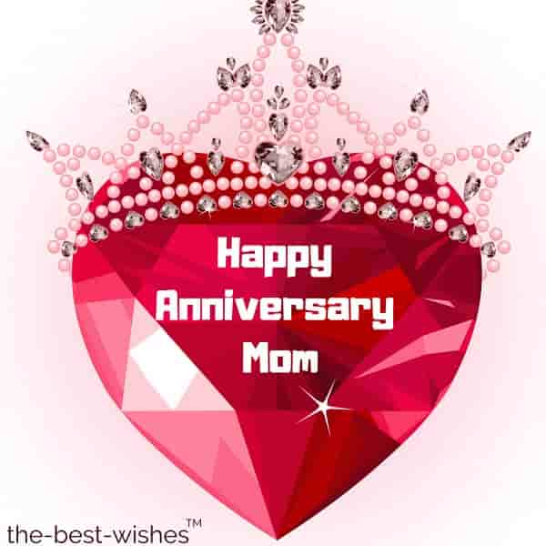 happy anniversary wishes for mom