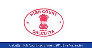 Calcutta High Court Recruitment 2018
