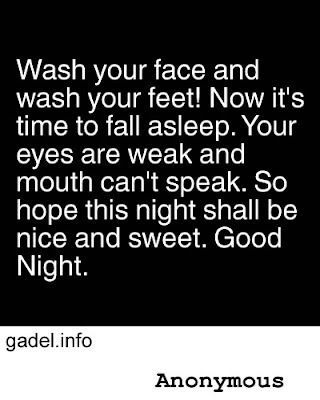 wash your face and wash your feet!