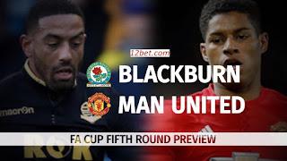 Phân tích cược Blackburn vs Man Utd (23h15 ngày 19/2/2017)