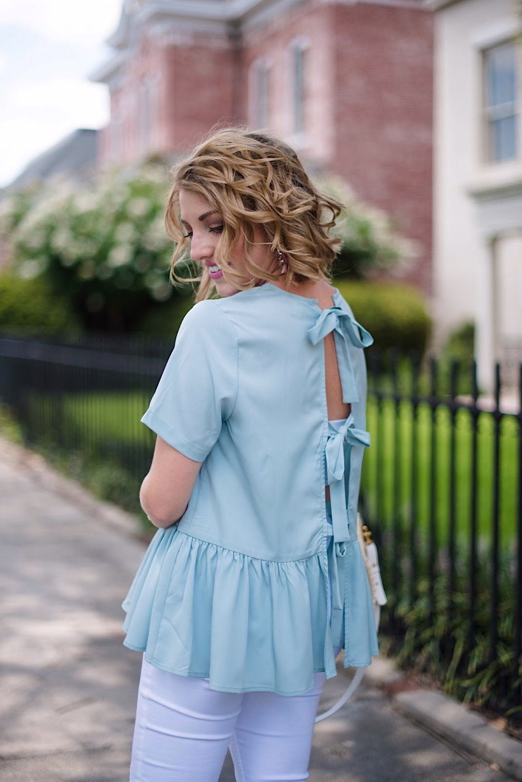 Bow Back Top - Click through to see more on Something Delightful blog!
