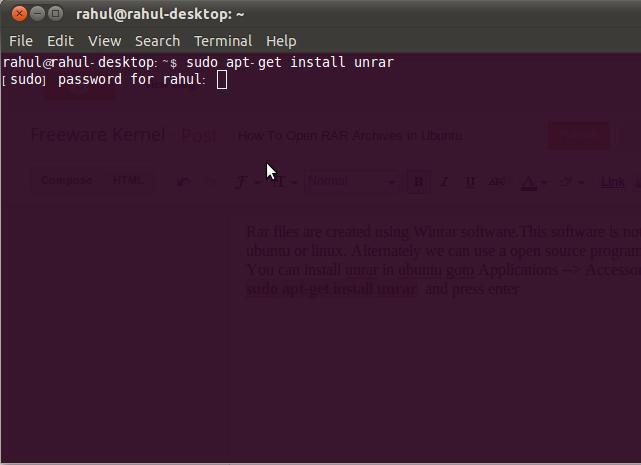 123codings blogspot com: How To Open RAR Archives in Ubuntu