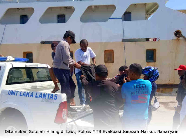 Ditemukan Setelah Hilang di Laut, Polres MTB Evakuasi Jenazah Markus Nanaryain