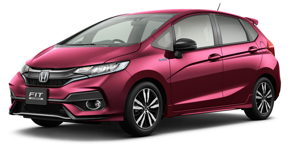 week after grainy images of the updated 2018 honda fit jazz leaked