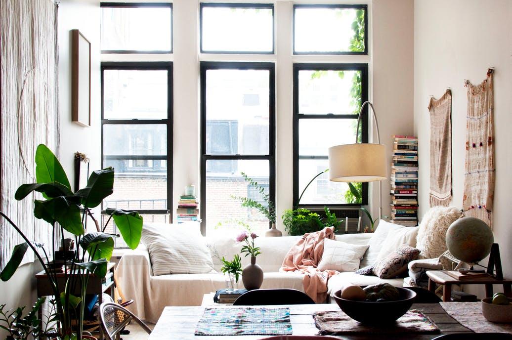 Un tout petit appartement à la déco bohème et cosy