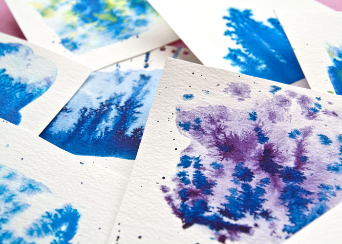 more close ups of Watercolour Texture painting technique, video by Kim Dellow