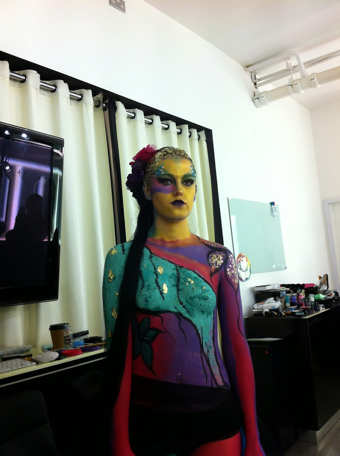 JT Makeup body paint at Ilamasqua