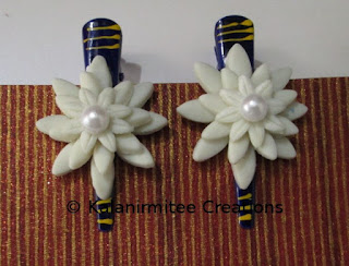 kalanirmitee: lamasa clay flowers- hairclips