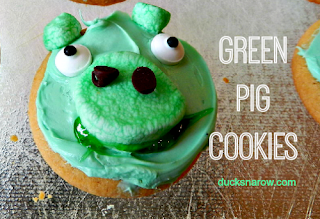 pig cookies, Angry Birds movie