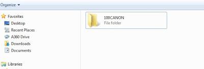 Folder pada memory card yaitu tempat disimpannya Foto dan Video kamera DSLR
