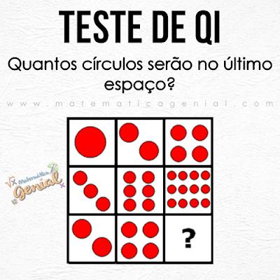 Teste de QI: Quantos círculos serão no último espaço?