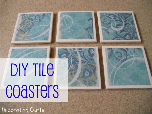 Decorating Cents: DIY Tile Coasters