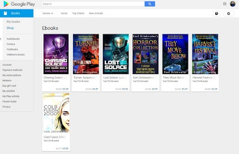 My Books Are Now On Google Play