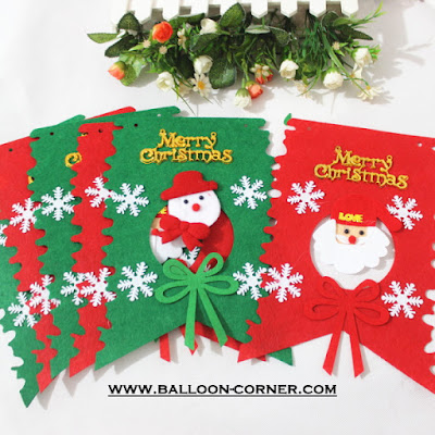 Bunting Flag Flanel MERRY CHRISTMAS