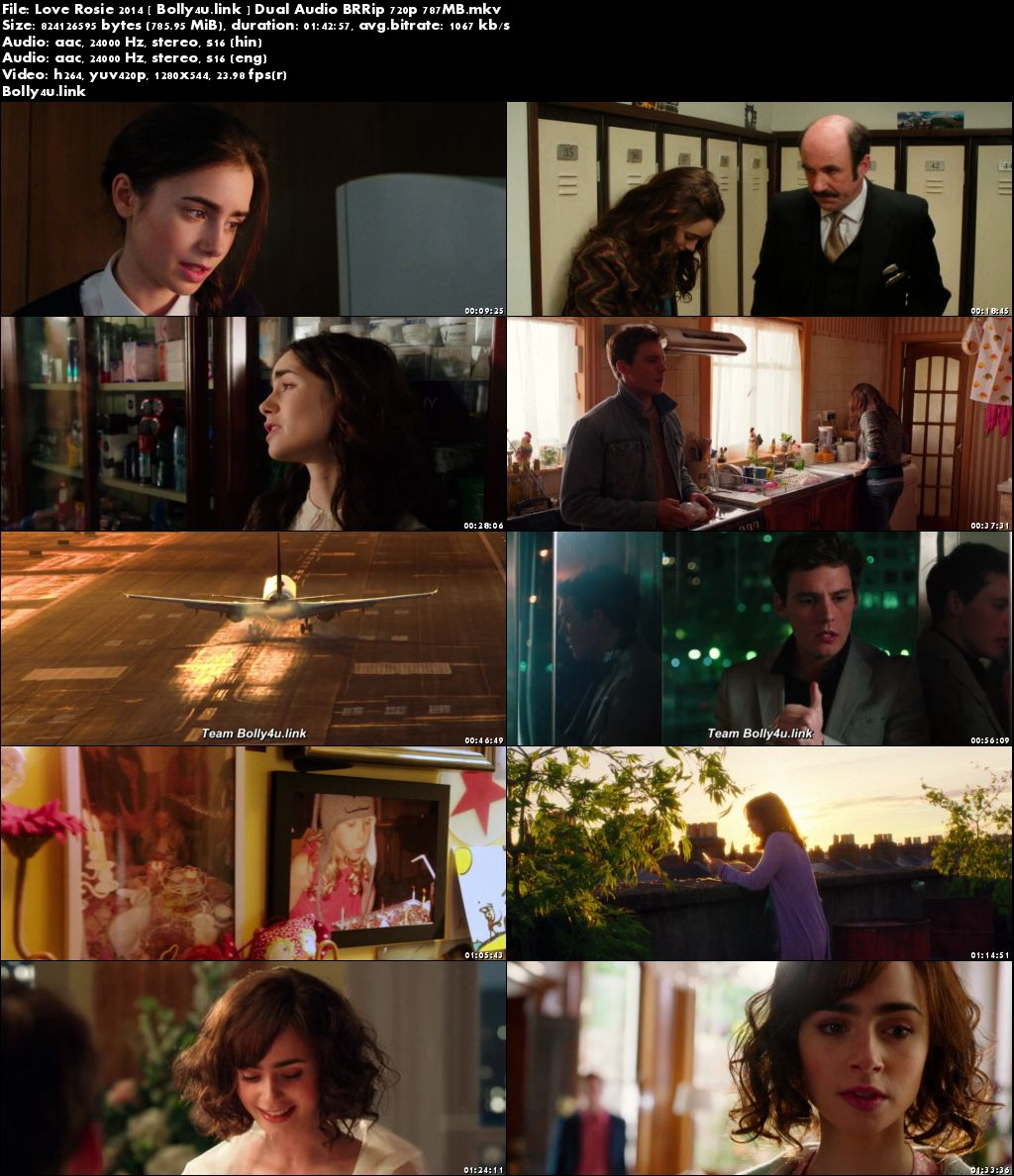 Love Rosie 2014 BRRip 350MB Hindi Dual Audio 480p Download