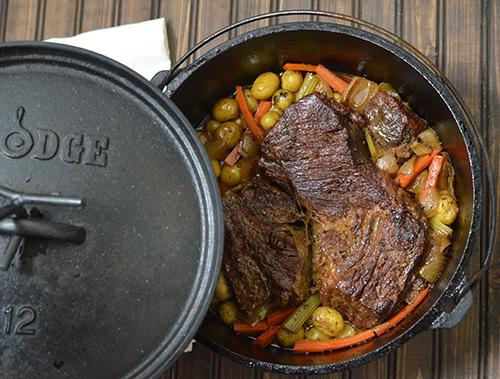 Certified Angus Beef Chuck Roast recipe for the slowcooker or dutch oven.