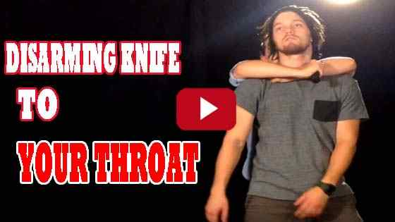 how to disarm someone with a knife to your throat-Self Defense Classes