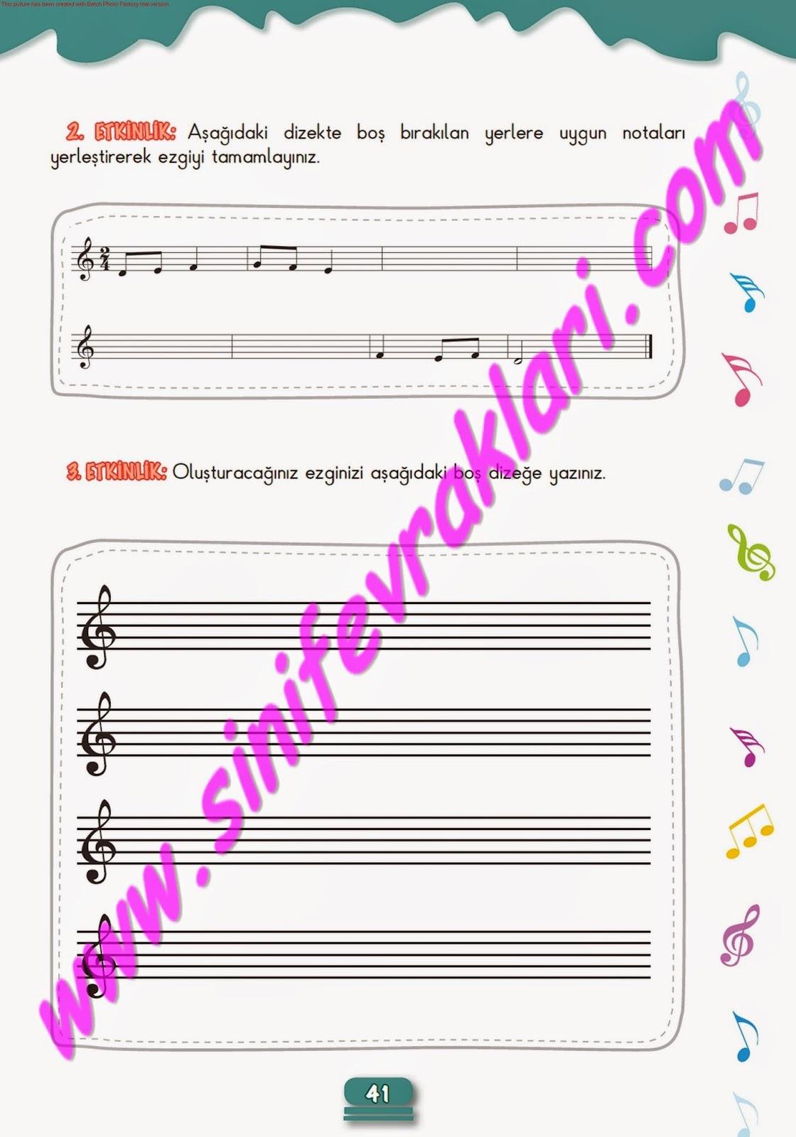 5sınıf Müzik çalışma Kitabı Cevapları Meb Yayınları Sayfa 41 Ders