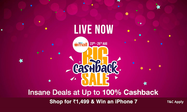 The 'Big Cashback Sale' is live on Paytm Mall!