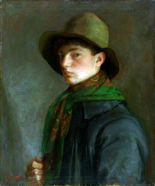 Mark Gertler, Self Portrait, Portraits of Painters, Fine arts, Portraits of painters blog, Paintings of Mark Gertler, Painter Mark Gertler
