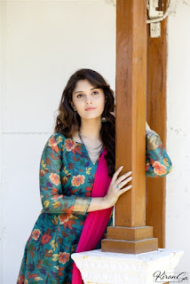 Surabhi Beautiful Photos In Green Dress