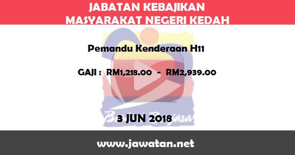 Jawatan Kosong di Jabatan Kebajikan Masyarakat Kedah