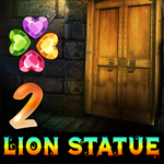 Games4King Lion Statue Cave Escape