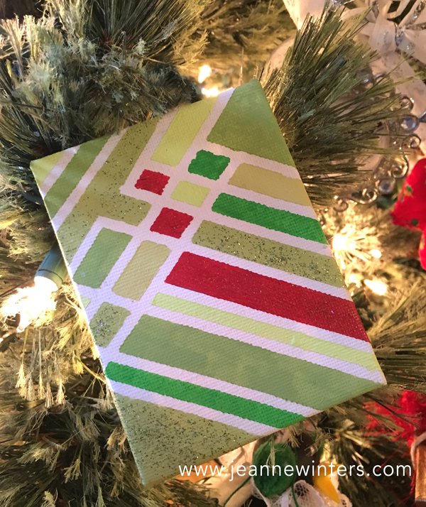Inspiring Ideas With Artist Jeanne Winters Kids Christmas Party Painted Canvas Ornament Idea Tutorial