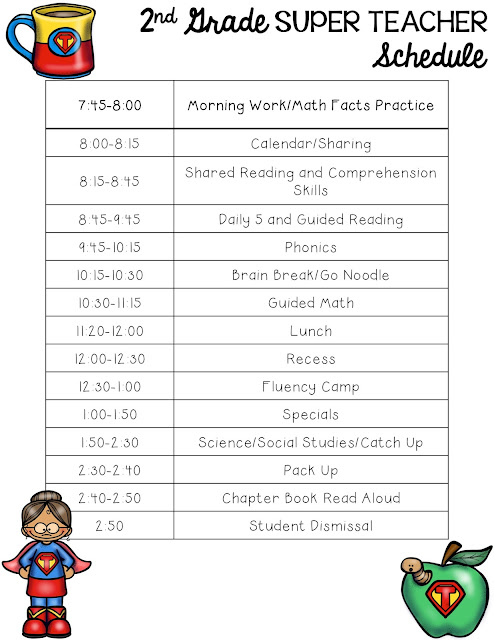 This third grade reading block schedule includes lots of ideas for book clubs, word work, listening stations, fluency, and writing that incorporate technology and are easy to prep!