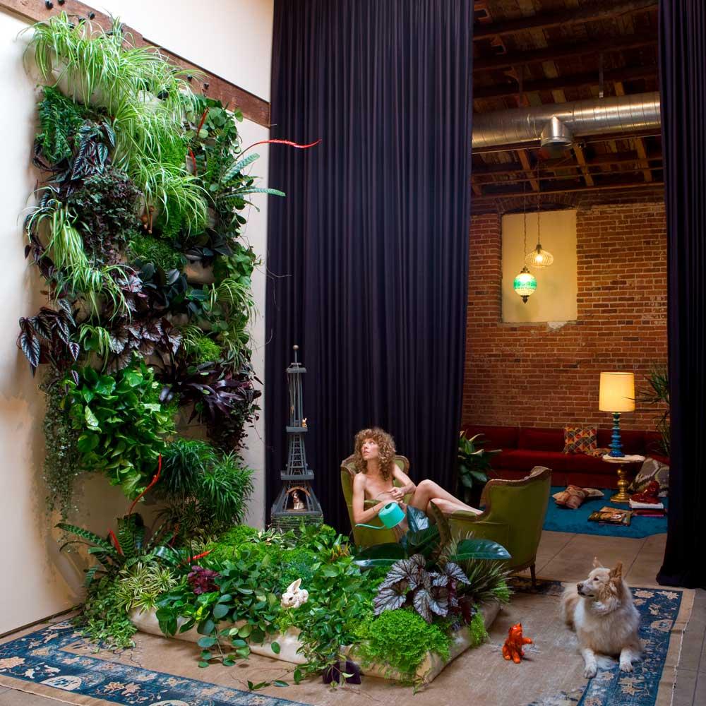 Ri pet giardino verticale in pet da riciclo con woolly for Giardino verticale