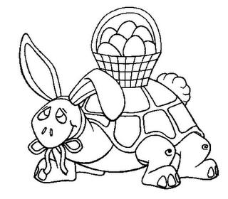 Tortuga Con Huevos Para Colorear 4 Dibujo