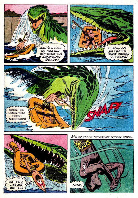 Korak Son of Tarzan v1 #8 gold key silver age 1960s comic book page art by Russ Manning