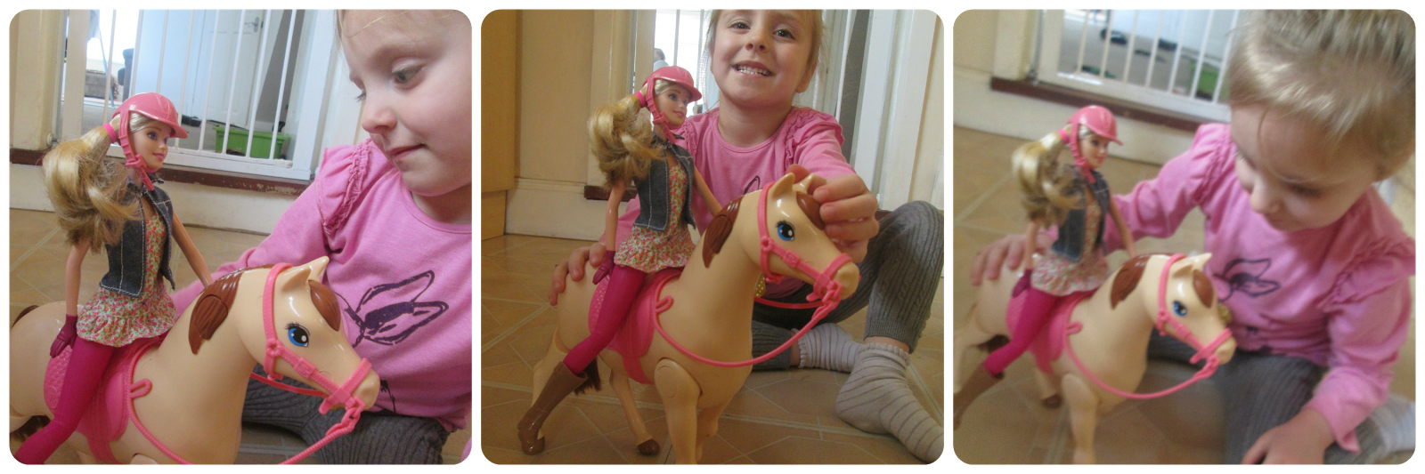 Lily and Barbie Saddle 'n Ride