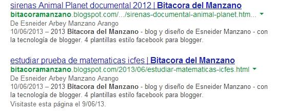 descripciones duplicadas en blogger