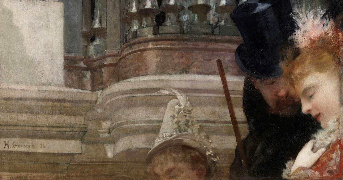 Peinture Française du 19ème Siècle: Le Bal de l'Opera (1886)