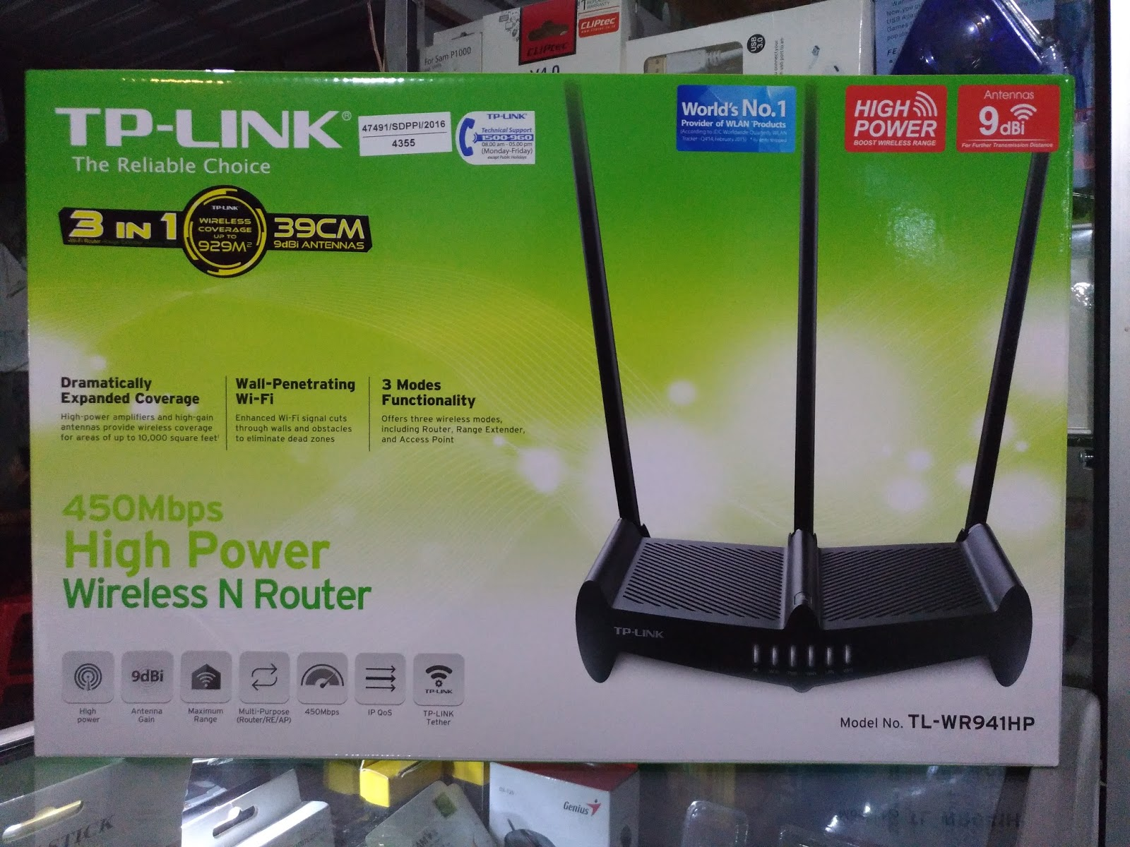 JUAL TP LINK WiFi TL WR941HP 450Mbps High Power Wireless N