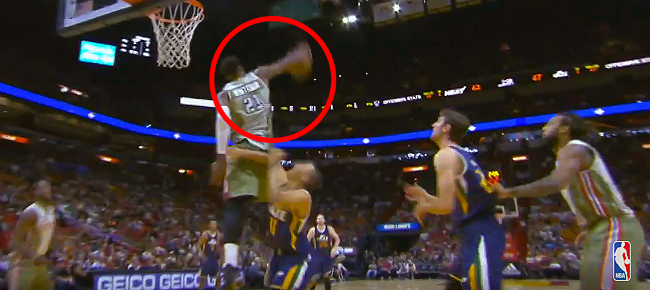 Hassan Whiteside Elevates to Grab the Block With One Hand (VIDEO)